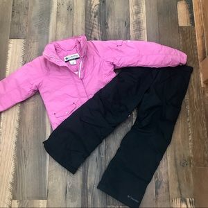 Columbia 2pc Snowboard Ski Coat & Pants Girl 10-12
